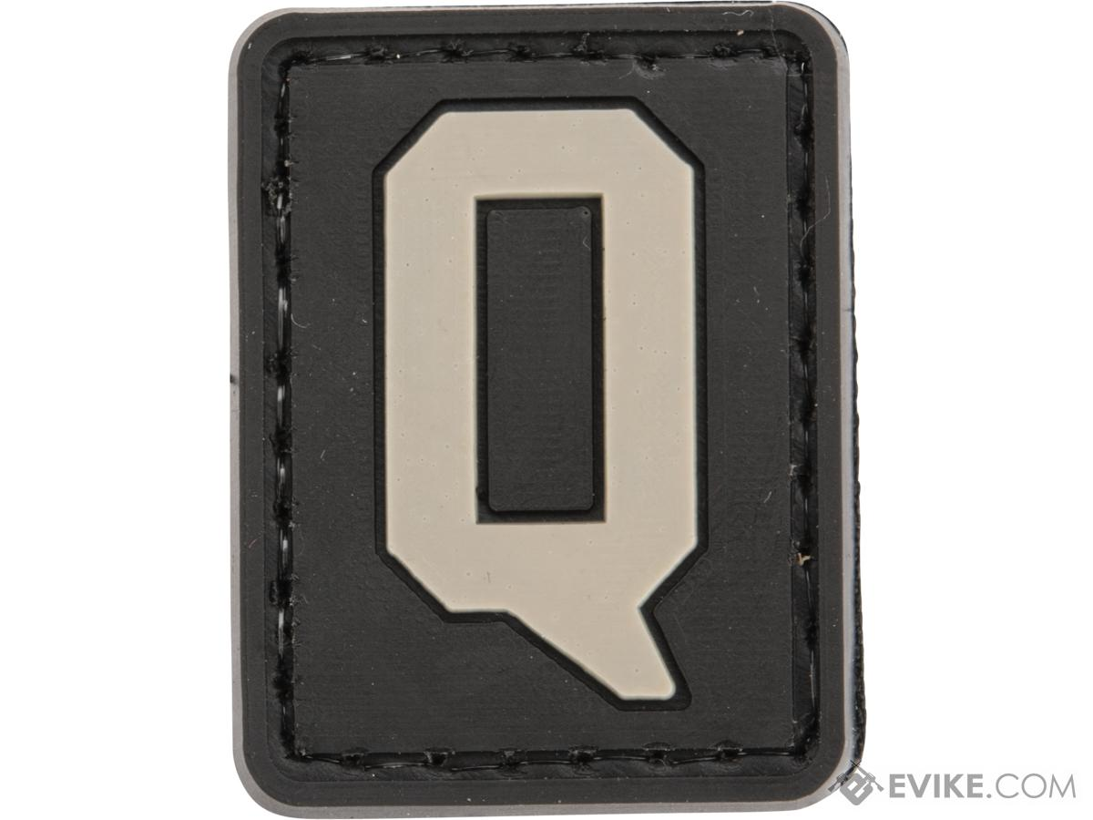 Evike.com PVC Hook and Loop Letters & Numbers Patch Black/Grey (Letter: Q)