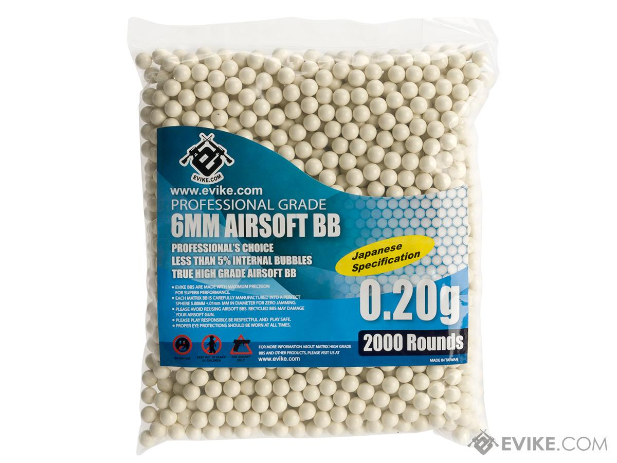 Evike.com MAX Precision Japanese Spec. 6mm Airsoft BBs (Weight: .20g / 2000 Rounds / White)