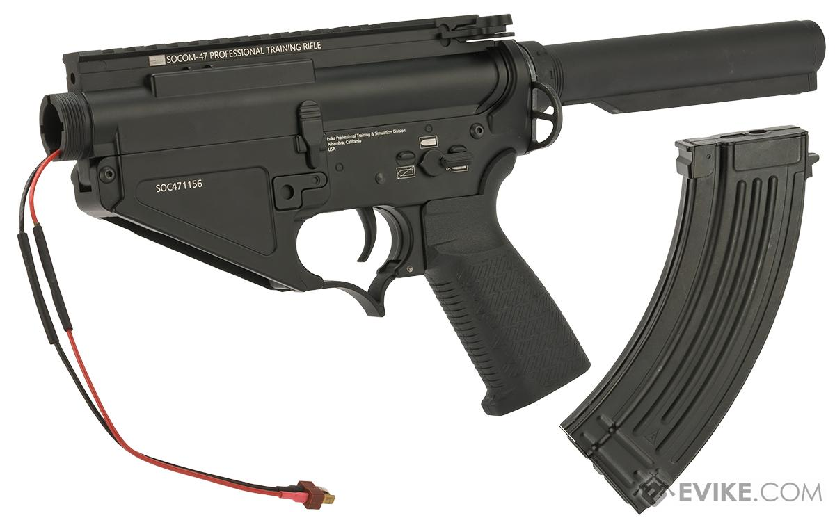 Evike Custom SOCOM-47 ProKit Complete Receiver Assembly with G&P Gearbox (Wiring: Front)