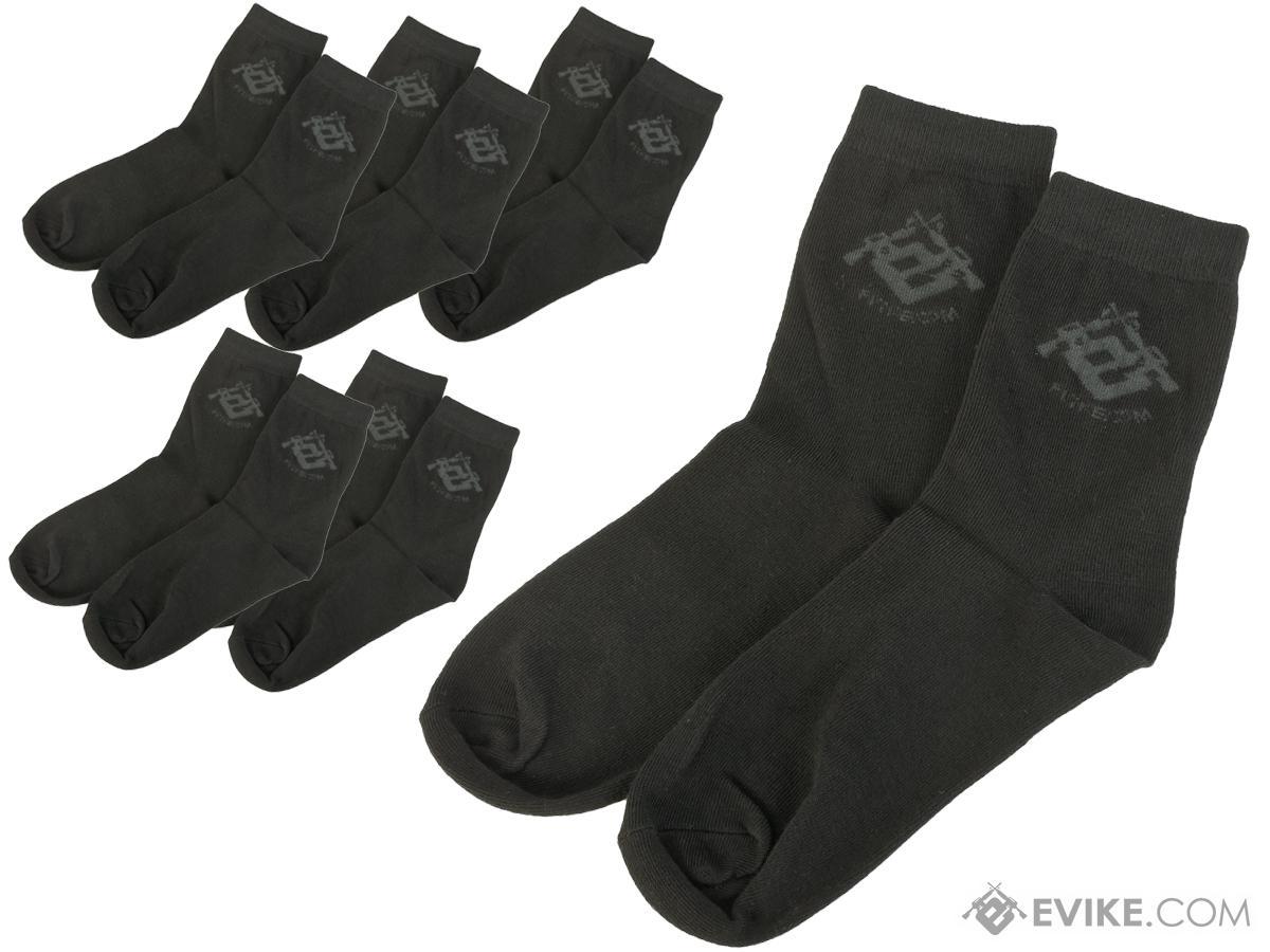Evike.com Performance EDW Tactical Socks - Black (6 Pairs)
