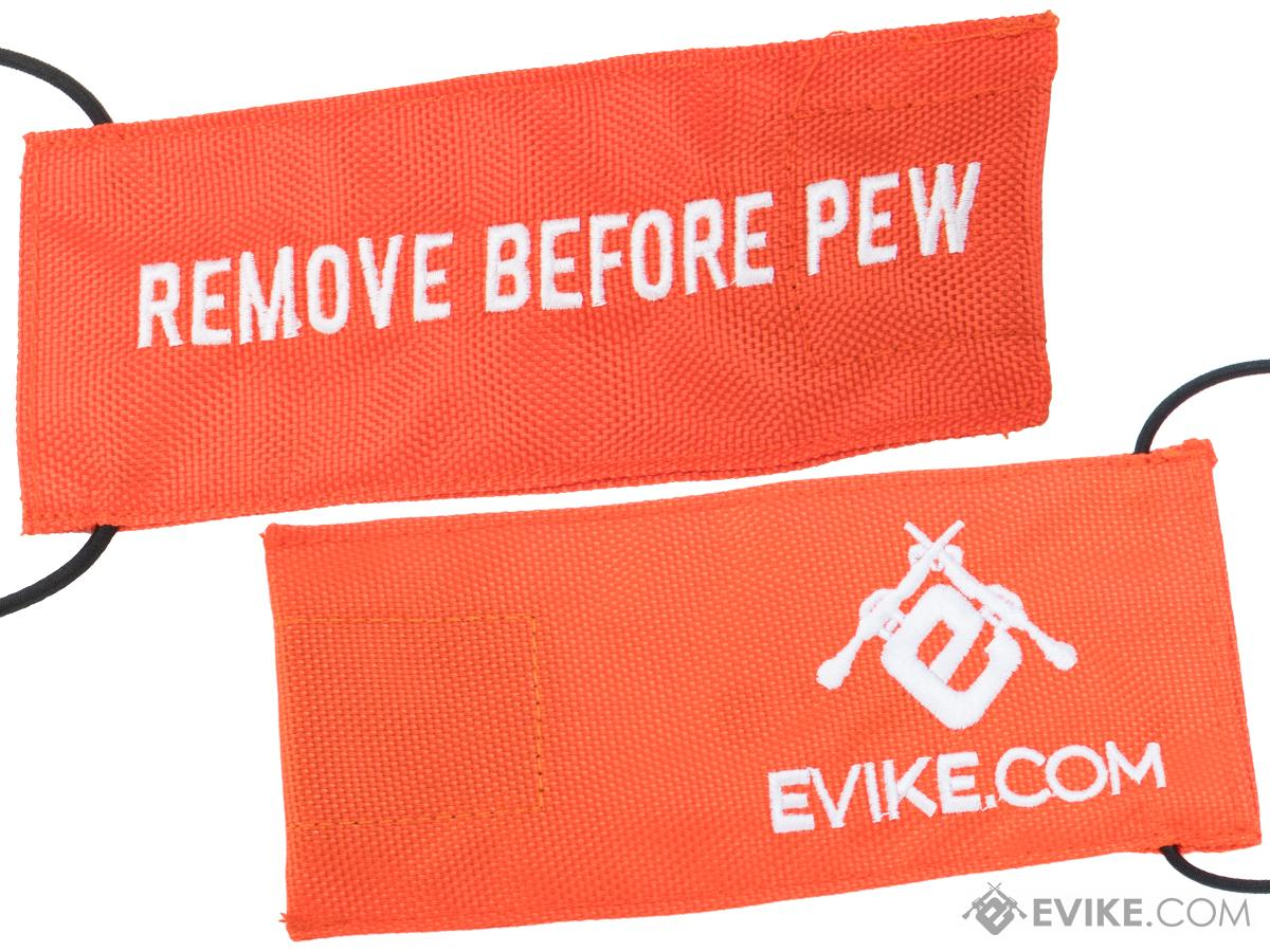 Evike.com Tactical Airsoft Barrel Cover w/ Bungee Cord (Model: RBP / Orange / Large)