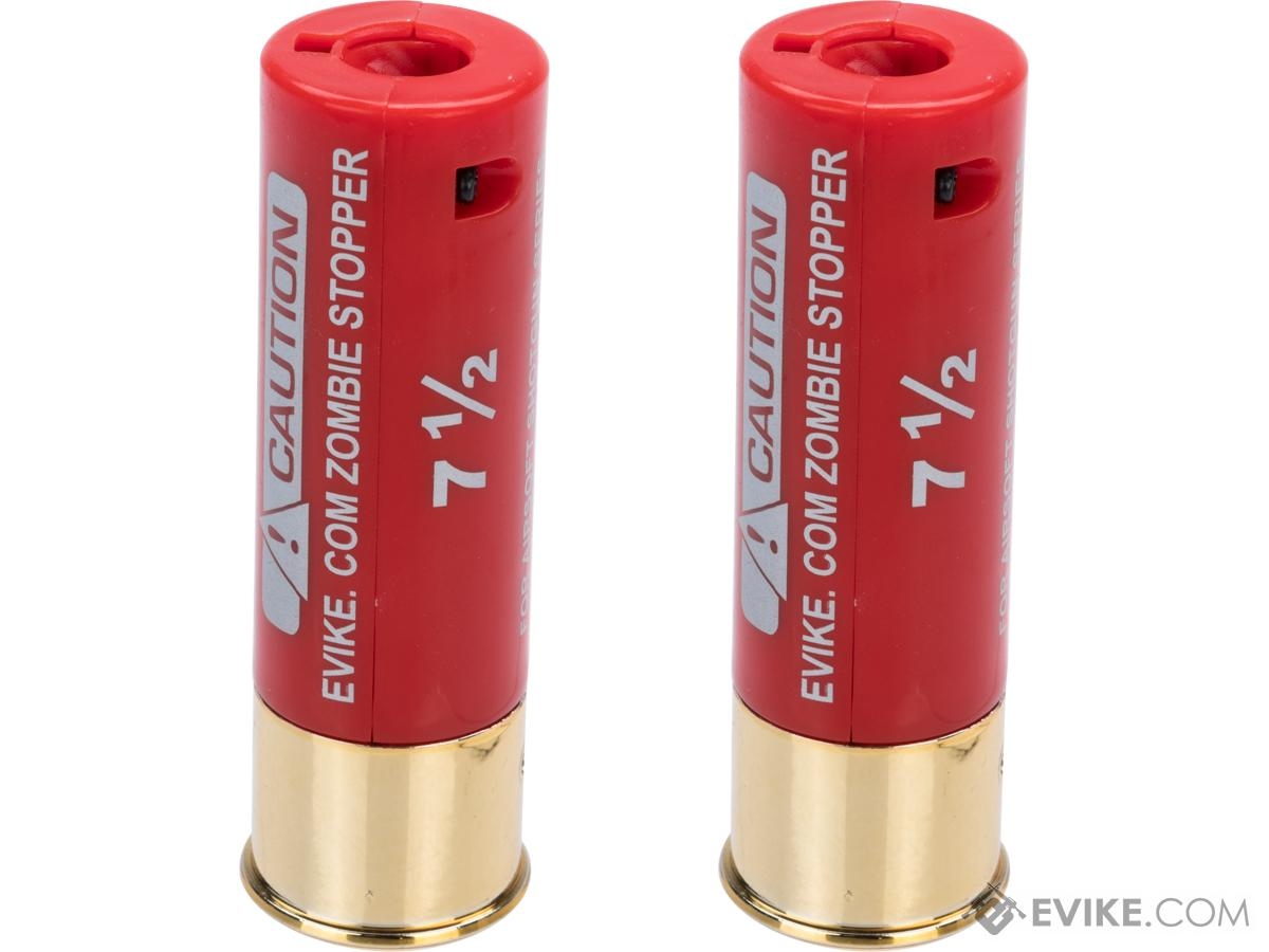 Evike Zombie Stopper 30 Round Shells for Multi & Single-Shot Airsoft Shotguns (Color: Red / 2 Pack)
