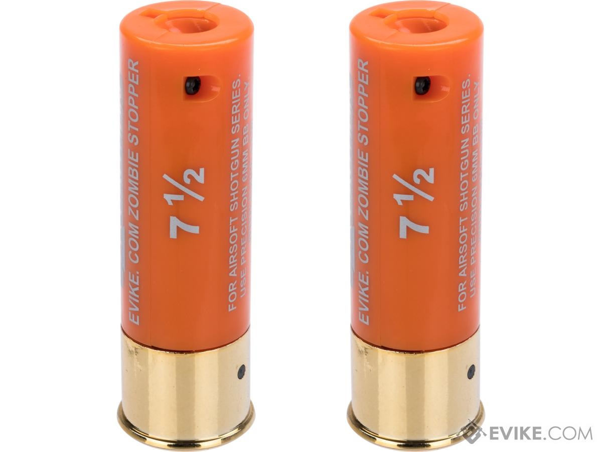 Evike Zombie Stopper 30 Round Shells for Multi & Single-Shot Airsoft Shotguns (Color: Orange / 2 Pack)