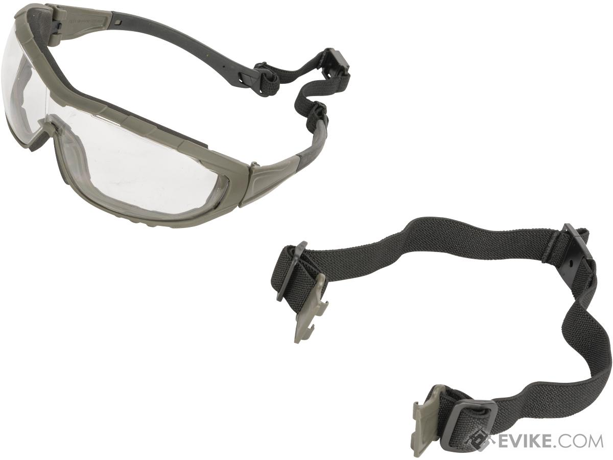 Evike.com Axis Tactical Goggles by Valken (Color: Green Frame / Clear Lens)