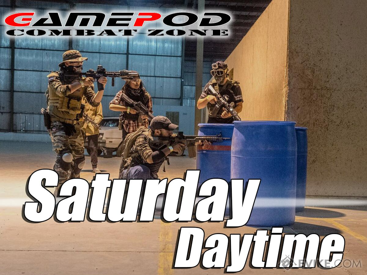 Gamepod Combat Zone Field Admission Pass (Ticket: Saturday Daytime)