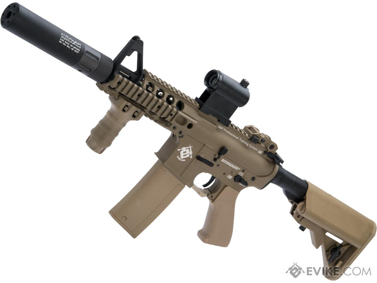 Evike.com G&P Rapid Fire II Airsoft AEG Rifle w/ QD Barrel Extension w/ i5 Gearbox (Package: Desert / V2)