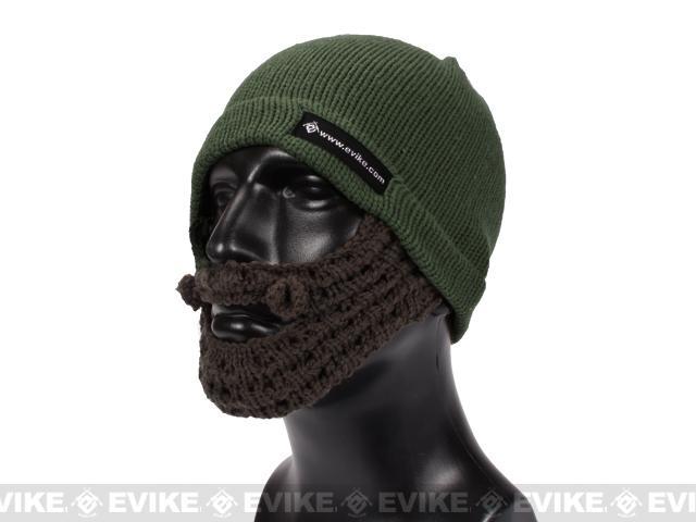 Evike.com Tactical Beard Beanie (Color: OD Green / Brown)
