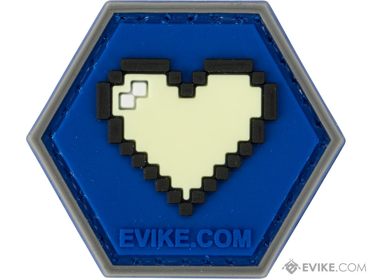 Operator Profile PVC Hex Patch Gamer Series 1 (Style: Glow In The Dark - 8-bit Heart)