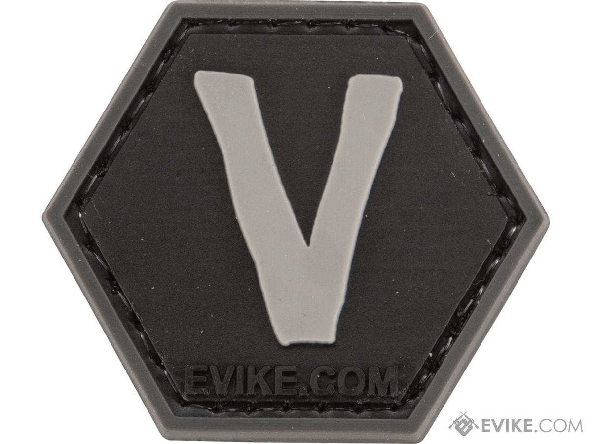 Operator Profile PVC Hex Patch - Alphabet Series (Letter: V)