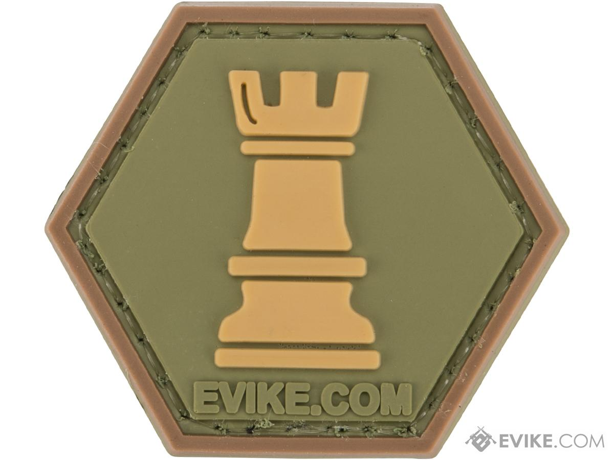 Operator Profile PVC Hex Patch Chess Series (Piece: Rook / OD Green)
