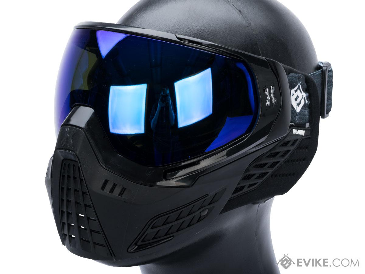 HK Army KLR Full Face Mask w/ Evike.com Headband (Color: Onyx / Arctic Lens)