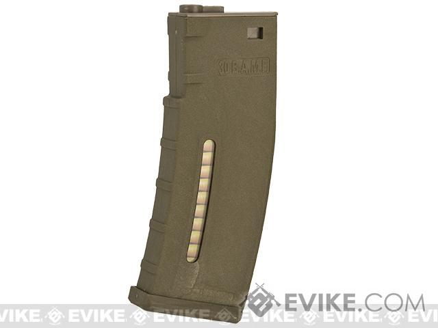 Evike.com BAMF 30rd Polymer MilSim Magazine for M4 / M16 Series Airsoft AEG Rifles (Color: Tan / Pack of 5)