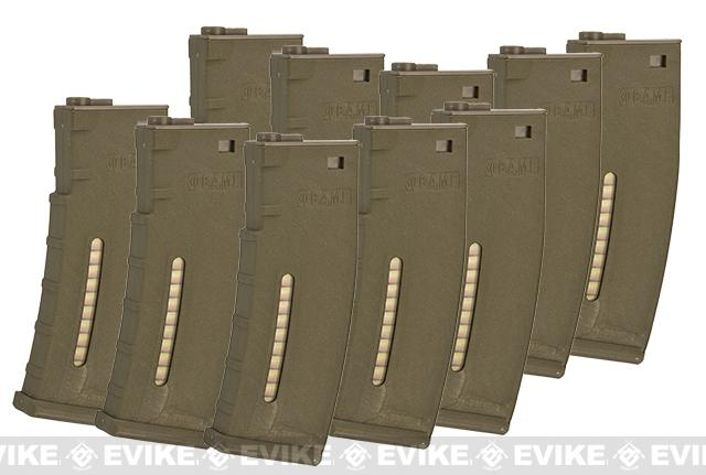 Evike.com BAMF 30rd Polymer MilSim Magazine for M4 / M16 Series Airsoft AEG Rifles (Color: Tan / Pack of 10)