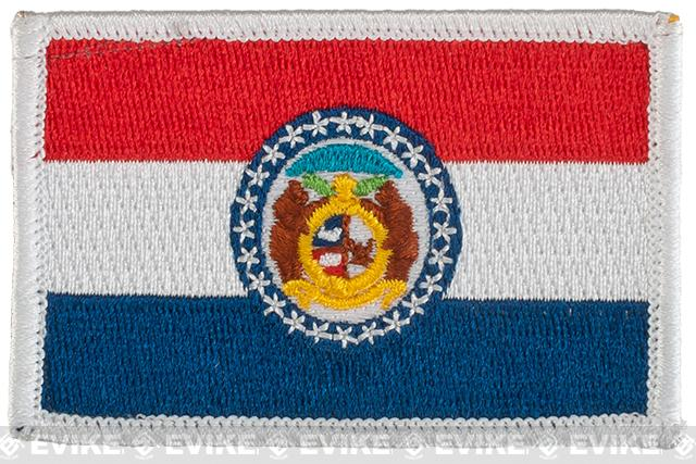 Evike.com Tactical Embroidered U.S. State Flag Patch (State: Missouri The Show Me State)