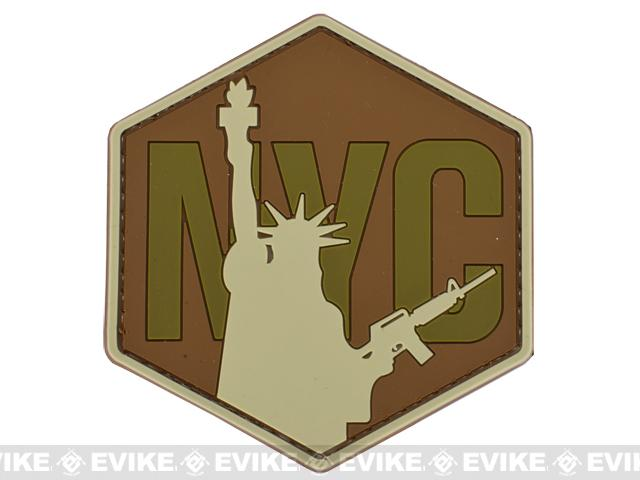 NYC Airsoft IFF PVC Hook and Loop Patch - Brown / Tan