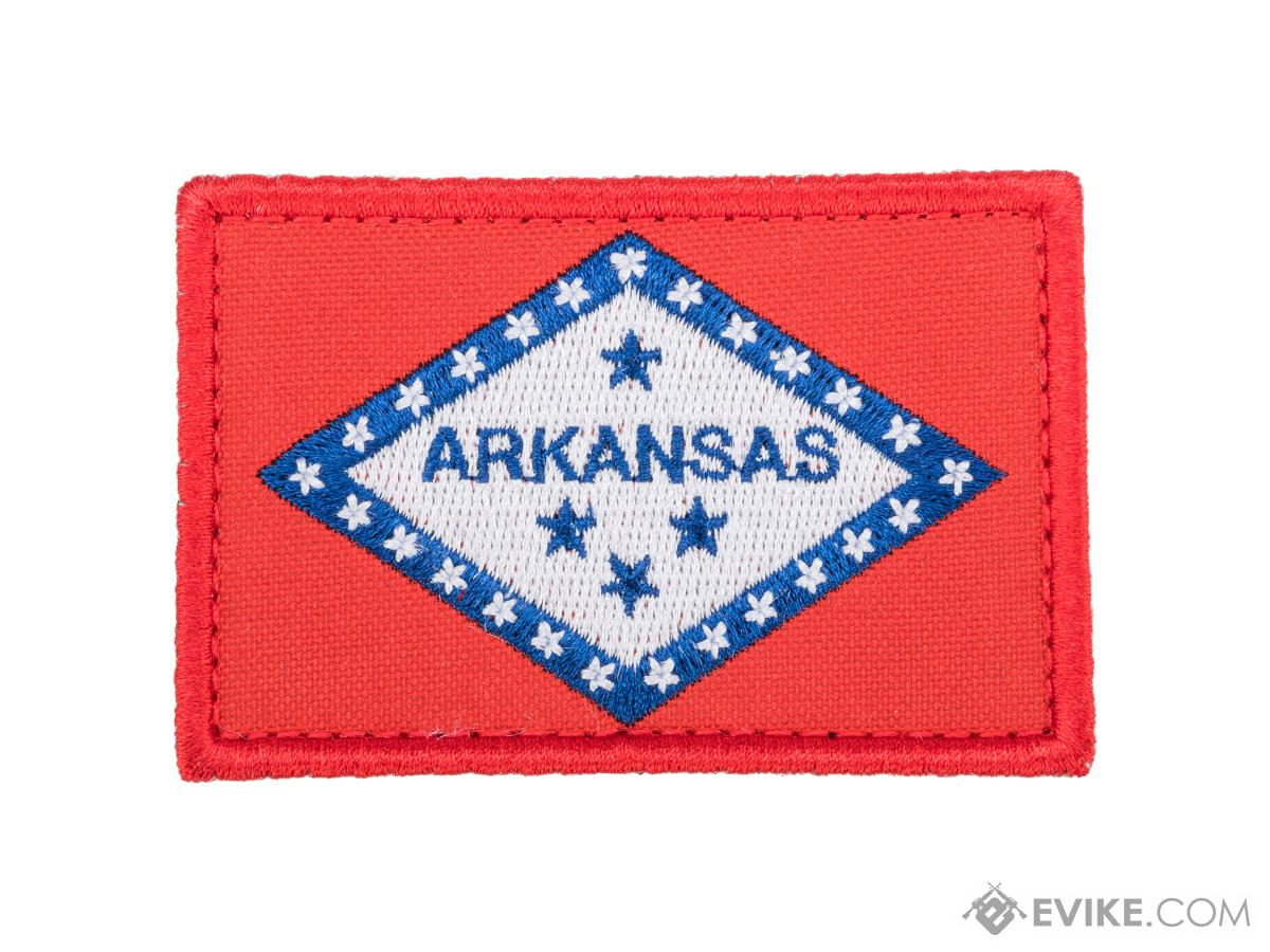 Evike.com Tactical Embroidered U.S. State Flag Patch (State: Arkansas The Natural State)