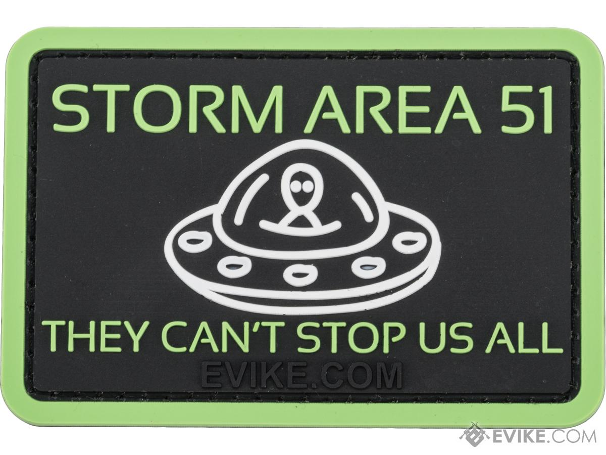 Evike.com Storm Area 51 They Can't Stop Us All PVC Morale Patch