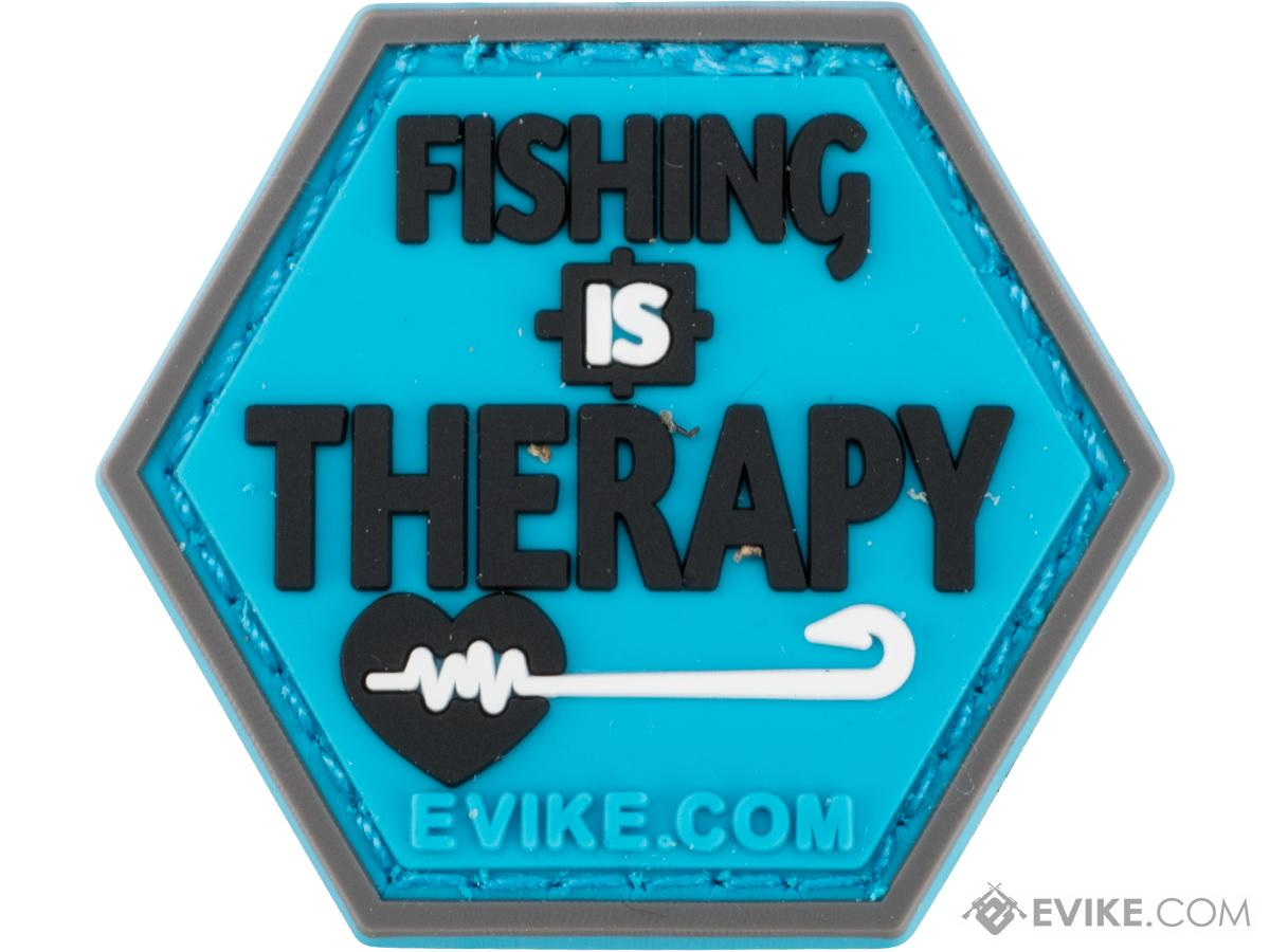Operator Profile PVC Hex Patch Fishing Series 2 (Style: Fishing is Therapy)