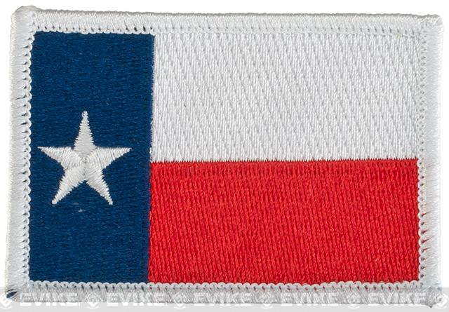 Evike.com Tactical Embroidered U.S. State Flag Patch (State: Texas The Lone Star State)