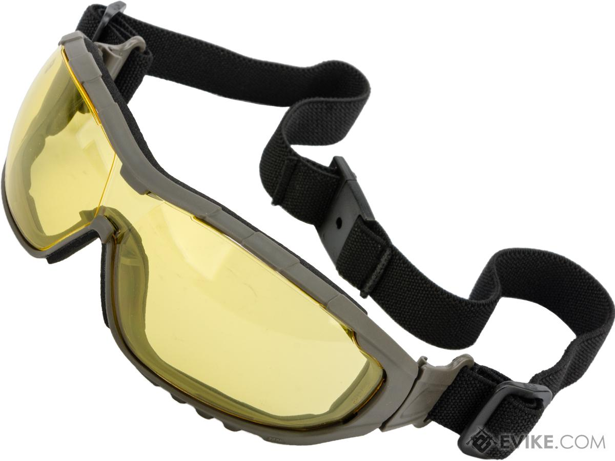 Evike.com Axis Tactical Safety Goggles (Color: Green Frame / Yellow Lens)