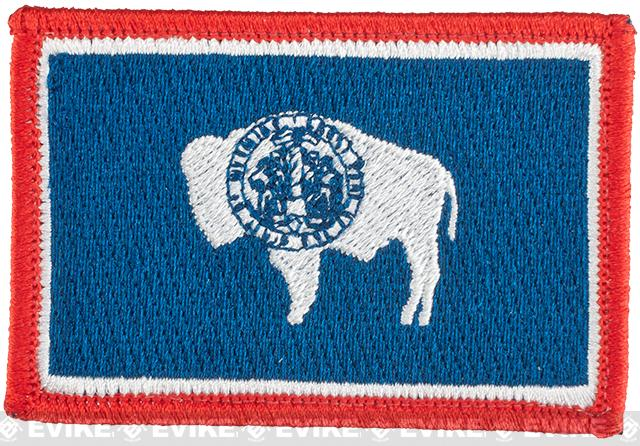 Evike.com Tactical Embroidered U.S. State Flag Patch (State: Wyoming The Equality or Cowboy State)