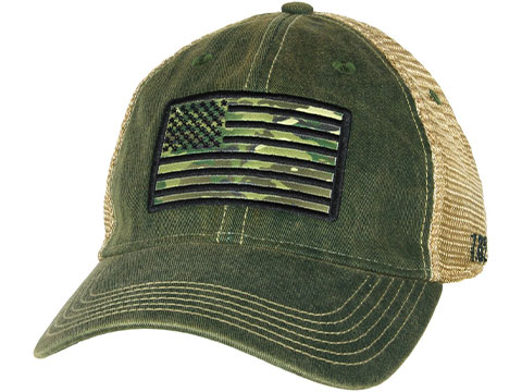 7.62 Design Camo Flag Vintage Trucker Hat