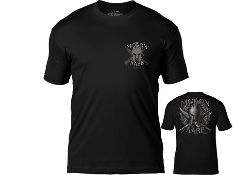 7.62 Design Molon Labe Premium Men's Patriotic T-Shirt (Size: Black / Large)