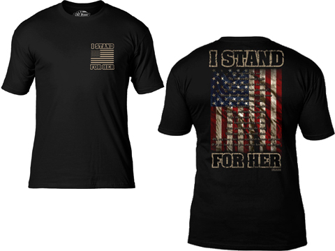 7.62 Design I Stand For Her National Anthem Premium Men's T-Shirt (Size: Black / Large)