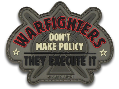 7.62 Designs PVC Warfighters Hook and Loop Morale Patch (Color: Full Color)