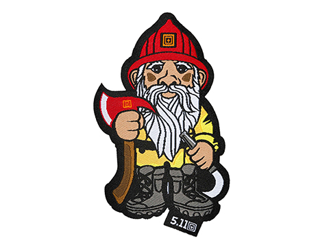 5.11 Tactical Firefighter Gnome Embroidered Hook and Loop Morale Patch
