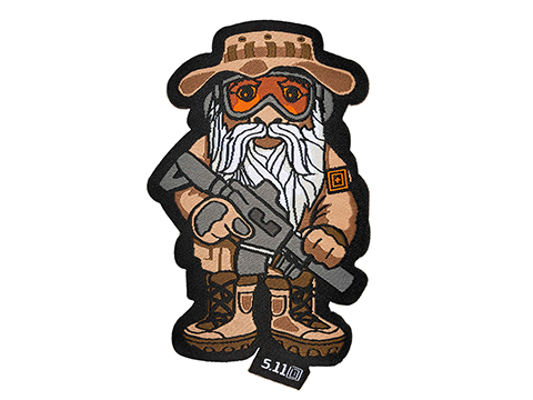 5.11 Tactical Marine Recon Gnome Embroidered Hook and Loop Morale Patch