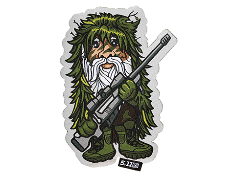 5.11 Tactical Sniper Gnome Embroidered Hook and Loop Morale Patch