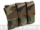 Phantom Triple M4 / G36 MOLLE Ready Magazine Pouch (Color: Woodland Camo)