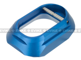 5KU CNC Machined Aluminum IPSC XL Mag Well for Tokyo Marui Hi-Capa GBB Airsoft Pistols (Color: Blue)