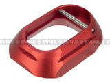 5KU CNC Machined Aluminum IPSC XL Mag Well for Tokyo Marui Hi-Capa GBB Airsoft Pistols (Color: Red)