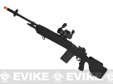 G&P M14 Socom-16 DMR Custom Airsoft AEG Sniper Rifle w/ Red Dot Scope - Black