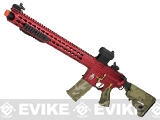 APS RED Special Edition Advanced Custom Silver Edge Gearbox Full Metal EBB AEG Rifle