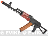 DBOY Full Metal AK74  Airsoft AEG Rifle w/ Real Wood Handguard and Side Folding Stock