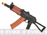 Full Metal AKS-74U / AK-74 Airsoft AEG Rifle with Real Wood Furniture by CYMA (Package: Gun Only)