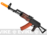 APS Full Metal AK74 Folding Stock Electric Blowback Airsoft AEG Rifle w/ Real Wood Furniture