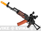 Pre-Order Estimated Arrival: 01/2015 --- APS Full Metal AK74 Folding Stock Electric Blowback Airsoft AEG Rifle w/ Real Wood Furniture and Scope Mount Base