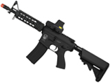 Evike Custom Class I G&G Blowback M4 CQBR Combat Machine Airsoft AEG - Black