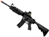 Evike Custom G&G Blowback Full Length Carbine Combat Machine Airsoft AEG with CRANE Stock (M1 RIS / Black)