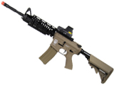 Evike Custom Class I G&G Blowback Full Length Carbine Combat Machine Airsoft AEG - M1 RIS Tan