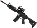 Evike Custom G&G Blowback Full Length Carbine Combat Machine Airsoft AEG (M1 RIS / Black)