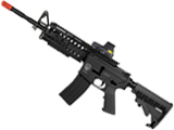 z Evike Custom G&G Blowback Full Length Carbine Combat Machine Airsoft AEG (M4S RIS / Black)