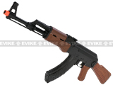 SRC Sport Series AK47 Full Stock Airsoft AEG Rifle w/ Metal Gearbox, battery and charger
