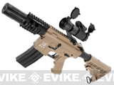 z Evike.com Custom SRC M4 Fighting Cat Airsoft AEG Rifle (Tan)