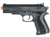 Limit One Per Order - Black Two Tone Railed M9 Airsoft Air Spring Pistol