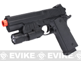 Full Size 1911 Elite Replica Airsoft Pistol w/ Laser & Light LAM Module